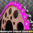 RZV500 CYCバイクチェーン 530-120L カラーチェーン 蛍光ピンク【クーポン配布中】
