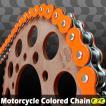 RZV500 CYCバイクチェーン 530-120L カラーチェーン 蛍光オレンジ