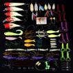 フィッシング ルアーセット 約100点セット ソフト ハード 釣り針 クリアボックス 釣具 大量 ハードルアーセット #3