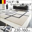 絨毯 カーペット ラグ おしゃれ ベルギー製 秋冬 ウィルトン織り 230x160 スタイリッシュ
