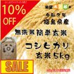 新米 無洗米5kg コシヒカリ 30年福島県産簡単に炊ける無洗米玄米 (10%OFF対象商品)