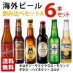 海外ビール飲み比べ6本セットA 瓶 6ヵ国 輸入ビール 送料無料