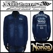 シャツ/Norton/ノートン/デニムシャツ/インディゴ/Lサイズ/61N1502