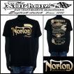 Tシャツ/Norton/吸水速乾ワッペン付きT/ブラック/Lサイズ/72N1006