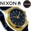 NIXON ニクソン 腕時計  レディース SMALLTIMETELLER LEATHER BLACK/GOLD NA509010 正規保証付