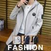 メンズコート コート 春 秋 メンズ フード付き 無地 ロングコート ジャケット ミディアム トップス アウター 定番 通勤 シンプル 紳士