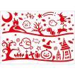スノースプレー用型紙(A2) ハロウィンパーティー halloween