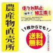 農産物直売所 のぼり旗(ポンジ:1800×600mm 三方三巻縫製・右チチ)