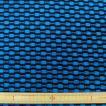 ポリエステルニット(46856) ブルーx黒