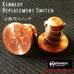 Kennedy 交換スイッチ Roundhouse Ruby v2用 / ケネディ*正規品*VAPE RDA + Mechanical Tube MOD メカニカル Replacement Switch Assembly