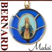 BERNARD 無原罪の聖母マリアメダイ col.Blue  ペンダント ネックレス チャーム 教会 925 指輪 ヴィンテージ