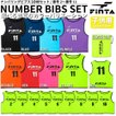 送料無料 フィンタ FINTA ジュニア 用 ゲームベスト ビブス 10枚セット FT6555
