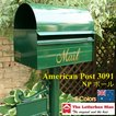 The Letterboxman American Post3091+NPポール(ネームプレート台座あり)