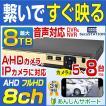 防犯カメラ レコーダー 8ch AHD 最大 8TB HDD