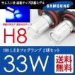 H8 LED フォグランプ ブルー / 青 SAMSUNG 33W CREE級 2球