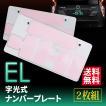 EL字光式ナンバープレート 普通車/軽 最薄0.8mm 2枚セット