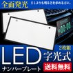 LED 字光式 ナンバープレート 普通車/軽 全面発光 前後2枚セット