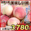 桃 もも 4kg 和歌山県産 美味しい桃 ご家庭用 果物