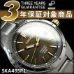 逆輸入SEIKO KINETIC セイコー キネティック メンズ 腕時計 グレー×ゴールド チタンベルト SKA495P1【ネコポス不可】