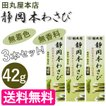 静岡本わさび 瑞葵 42g×3本セット チューブタイプ 薬味 ワサビ 静岡県 国産 お土産 みずあおい