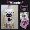 春夏おすすめ 30%OFFサマーセール!Winpie(ウィンピー)猫プリントユルTシャツ(キッズ・子供服/女の子)90/100/110cm 通販