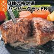 ハンバーグ 取り寄せ ギフト 3種 6個 格之進3種の格之進ハンバーグセット 黒格 白格 金格 白金豚 黒毛和牛 国産牛 塩麹