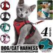 猫 犬 ハーネス ペット 服 フルカバー ウェアハーネス 胴輪 キャット ドッグ メッシュ