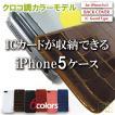 アイクレバーiPhone5/5sカバーパスケース クロコ調