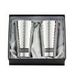 KUKUNA TABLEWARE ステンレスタンブラー 350ml 2客セット(ミラー、槌目仕上げ) 1163-029
