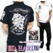 エドハーディー ポロシャツ メンズ ED HARDY 半袖 刺繍/USA/スカル/ライダー