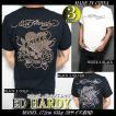 エドハーディー Tシャツ メンズ ED HARDY 半袖 スタッズ/ラインストーン スカル