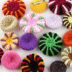 岩崎定子さんのニョッキみたいな手編みブローチ(4種類)