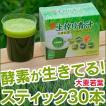 生搾り青汁 国産 粉末 お試し 野菜ブレンド 大麦若葉 酵素 日本薬品開発 生絞り青汁  90g (3g×スティック30本)  酵素が生きている お試し 青汁酵素