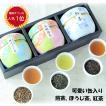 プレゼント 送料無料 静岡茶ギフト 鈴子缶3個セット 贈り物に お茶の葉桐 煎茶 ほうじ茶 和紅茶 日本茶詰め合わせ