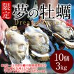 生牡蠣 殻付き 特大 夢牡蠣 10個 生食用 生ガキ 大粒生牡蠣 特大 バーベキュー[御歳暮 ギフト]