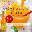 みかん 愛媛みかんジュース びじん[6本入]ギフトセット 100%ストレート果汁 国産オレンジジュース ギフト