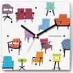 壁掛け時計 チェア&ソファ ファブリクロック ファブリック ウォールクロック 掛時計 壁時計 かけ時計 スイープ とけい 椅子 イス