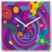 壁掛け時計 サイケきのこ ファブリクロック ファブリック ウォールクロック 掛時計 壁時計 かけ時計 スイープ とけい キノコ