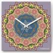 壁掛け時計 パープルサークル ファブリクロック ファブリック ウォールクロック 掛時計 壁時計 かけ時計 スイープ とけい 輪