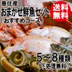 おまかせ鮮魚セット おすすめコース 5〜8種類 送料無料 海鮮ギフト 詰め合せ 日本海の鮮魚 鮮魚ボックス 鮮魚BOX 下処理 お取り寄せ 産地直送 ギフト