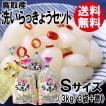 鳥取産・洗いらっきょうセットS(3kg+らっきょう酢)[送料無料]