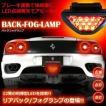 車用 F1風 バック フォグランプ LED12個搭載 ブレーキランプ リアバック 点滅 点灯 消灯 カー用品 おすすめ 人気 ET-FOGLAMP