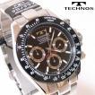 TECHNOS(テクノス) クロノグラフ腕時計 スポーティ精悍な多機能ウォッチ! TSM401TB