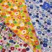 北欧風ストーリー柄シーチング生地《フラワー》(8501-1)【メール便は1色のみ2mまでOK同梱不可】[手作り/花柄/雑貨]