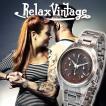 クロノグラフ 腕時計 RELAX vintage リラックスヴィンテージ ステンレス メンズ腕時計