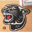 【送料62円】黒豹/LLサイズ/アイロンアップリケワッペン/刺繍/動物/ジャガー