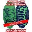 フラットスキム ランド Kayotics カヨティックス 2018「Channel-One」LIMTED EDTION「ANKLE SHARK」 Size:99.5cm×49.5cm デッキテープ付