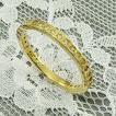 ハーフ エタニティ 指輪 ダイアモンド 18金イエローゴールド 4月誕生石