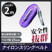 ナイロンスリングベルト(紫色)1T2Mスリング