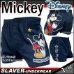 トランクス メンズ キャラクター ディズニー MICKEY ミッキーマウス 18A パネル柄 黒